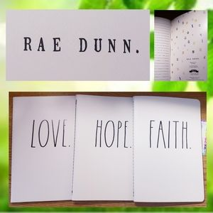 Rae Dunn Journals, Love, Hope, Faith, NWOT